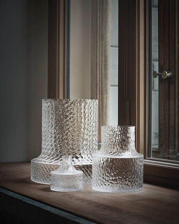 Skrufs Glasbruk Vas Kolonn H11 cm