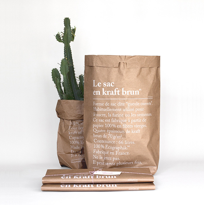 Le sac en papier Påse Kraft Brun
