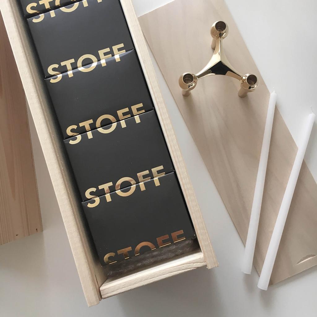 STOFF Nagel Candle Holder Brass 3-pack