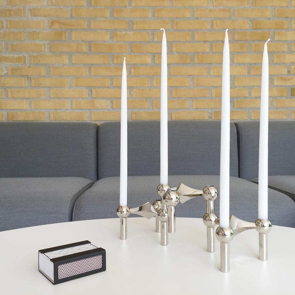 STOFF Nagel Candle Holder Krom 3-pack