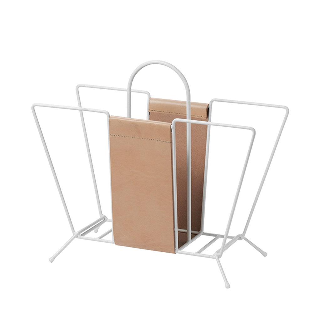 Maze Suitcase White/Leather