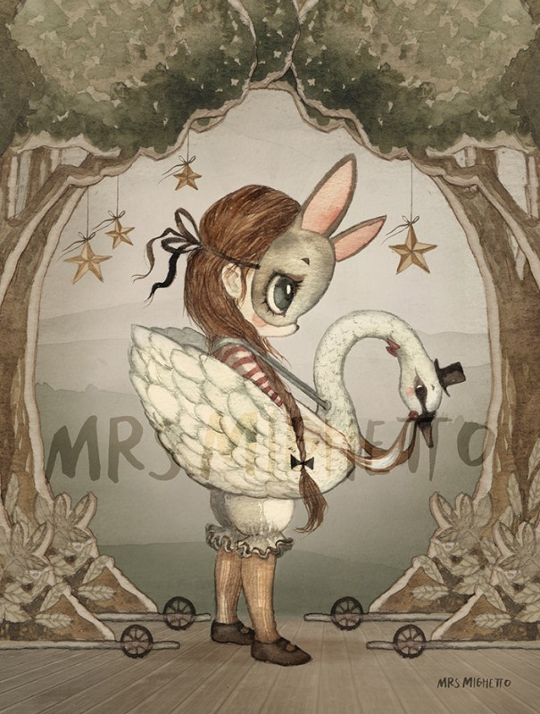 Mrs Mighetto MINI POSTER 24X18 Miss Edda