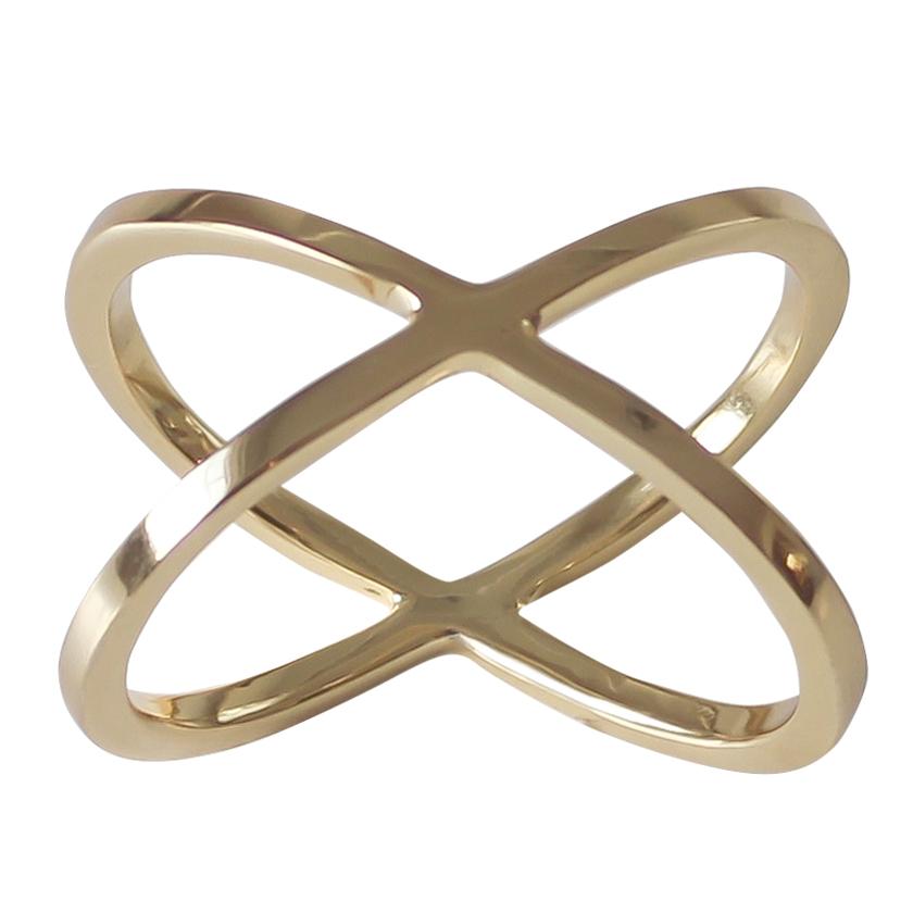 Dekohem Servettring Cross Brass 4-p