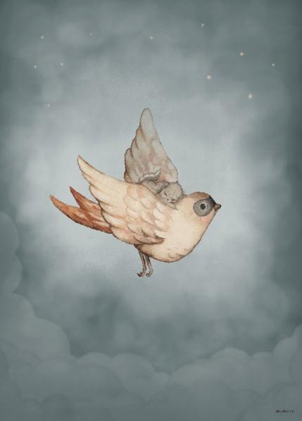 Mrs Mighetto Ocean Kids Poster 50x70 Dear Sparrow