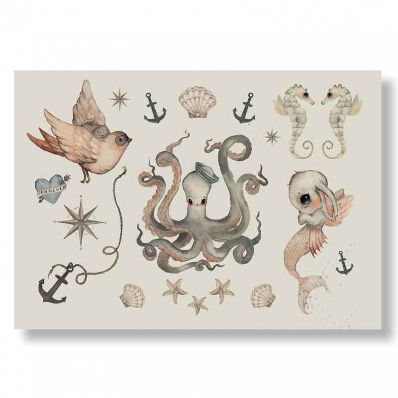 Mrs Mighetto Ocean Kids Tatueringar