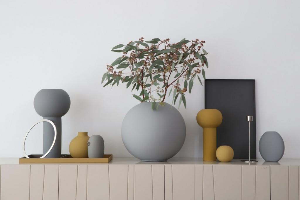 Cooee Design Vas Pastille 15 cm Grey