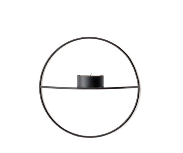 Menu POV Circle Tealight Candleholder S Black
