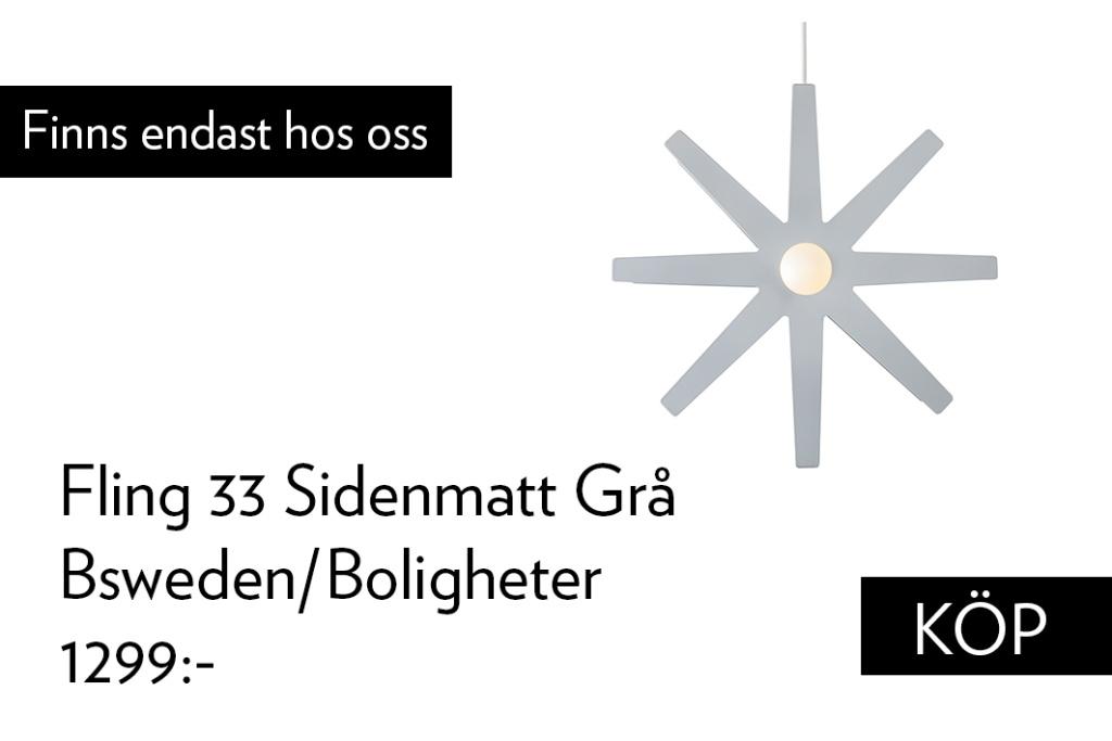bsweden Adventsstjärna Fling Boligheter Edition Matt grå