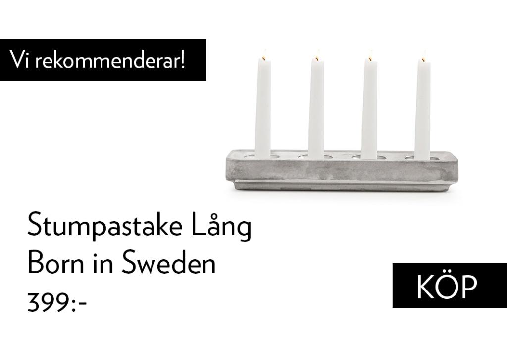 Born in Sweden Stumpastaken Lång Aluminium