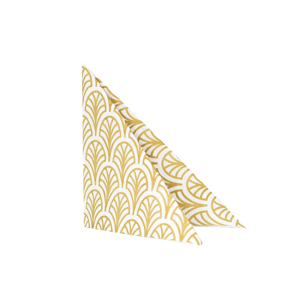 Dekohem Servetter Palm Guld, 20-pack 40 cm