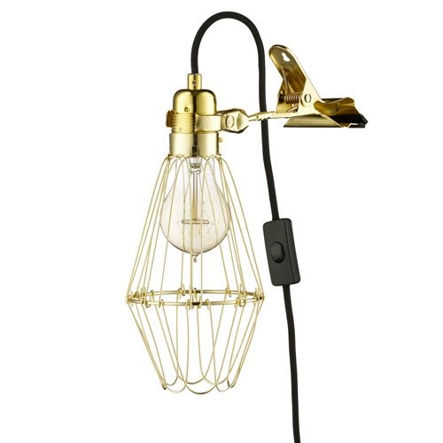 Hey There Hi Work Lamp de Lux - Brass/Black