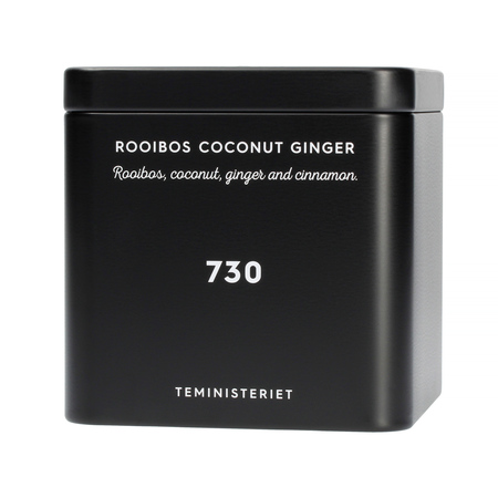 Teministeriet No 730 Rooibos Coconut Ginger Plåtburk Svart 100g