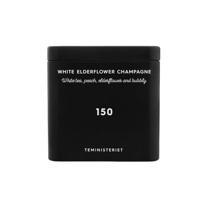 Teministeriet No 150 White Tea Elderflower Champagne Plåtburk Svart 50 g