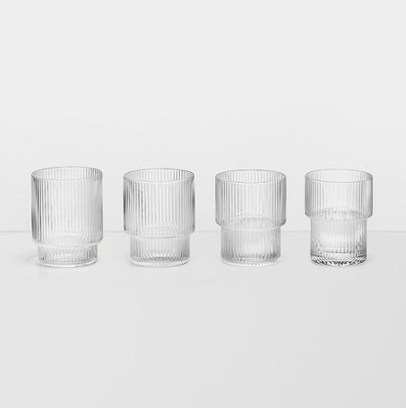Ferm Living Ripple Glas 4-pack 2837ac728e214