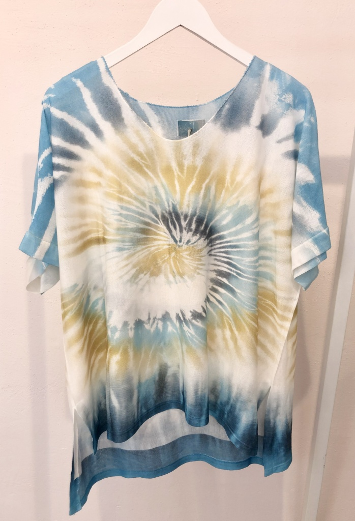 Cabana Living Batik T-shirt Light Blue