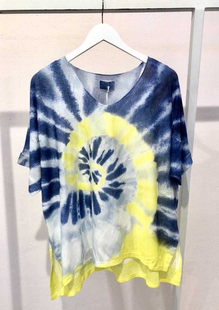 Cabana Living Batik T-shirt Dark Blue