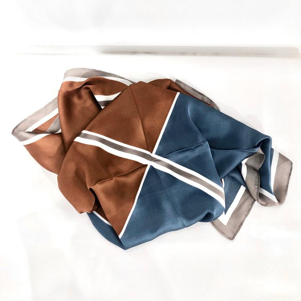 Black Colour Miniscarf Satin Triangle