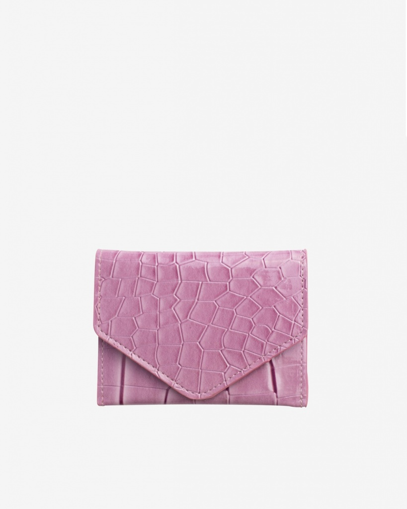 Hvisk Wallet Crocco Dusty Pink