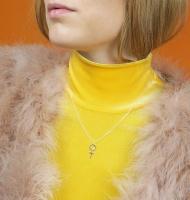 Wos Kvinnotecken Halsband Silver