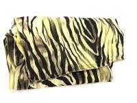 Black Colour Ziggy Zebra Scarf