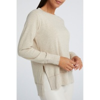 Yaya brushed sweater with slits