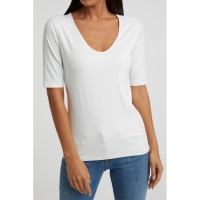 Yaya V-neck Half Sleeve Top