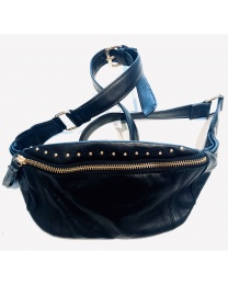 Black Colour Studded Bumbag
