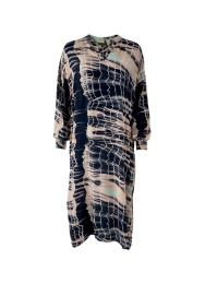 Black Colour Pixi Batik Kaftan Dress