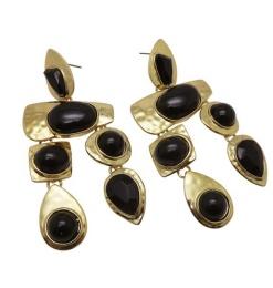 WOS Black Earrings