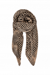 Black Colour Flow Scarf Frappe