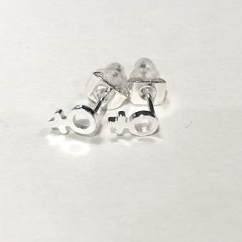 Wos Gudrun Mini Örhänge Silver