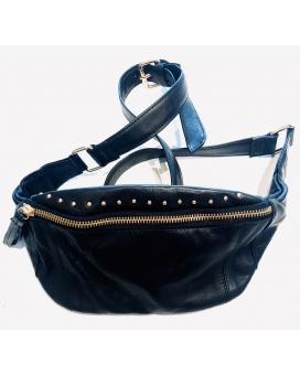 Black Colour Studded Bumbag