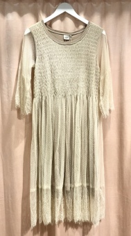 Cream Messia Dress