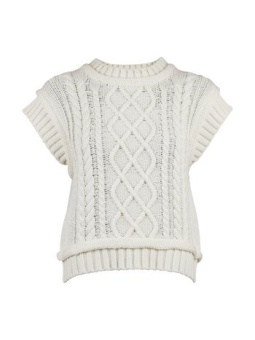 Neo Noir Malley Cable Knit Waistcoat