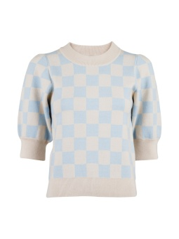 Neo Noir Abi Chess Knit Blouse