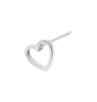 WOS Mini Heart Silver Örhänge