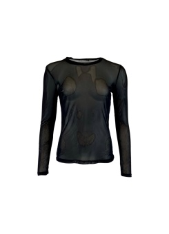 Black Colour Annie Mesh Blouse