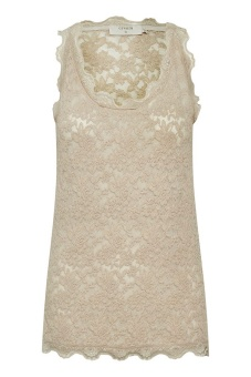 Cream BrendaCR Lace Top