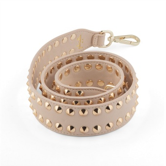 GBYP Axelrem Beige Double Stud Guld