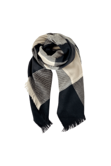 Black Colour Lena Scarf