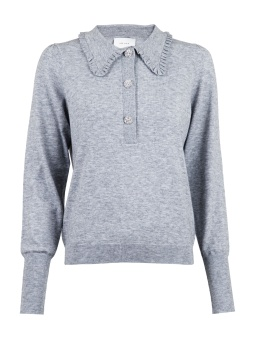 Neo Noir Gemma Diamond Knit Blouse