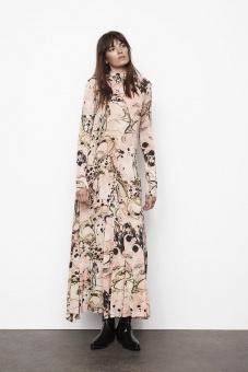 Rabens Saloner Mia Watermark Long Dress