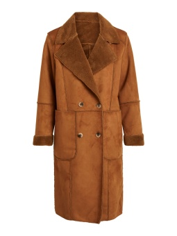 Vila Vishering Faux Sherling Coat