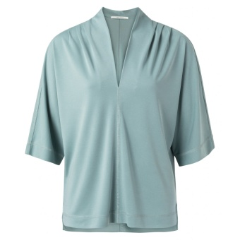 Yaya pleated v-neck top