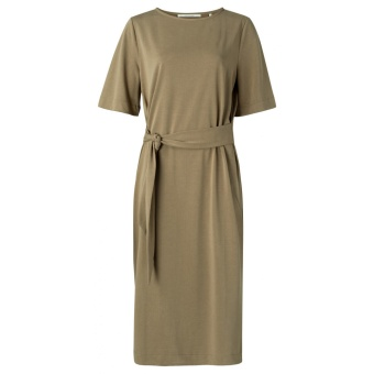 Yaya Jersey Dress With Belt
