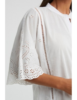 Yaya Shirt With Broderie Anglaise