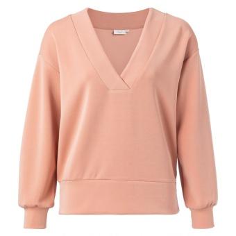 Yaya Boxy V-neck Sweatshirt