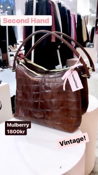 second hand mulberry väska vintage