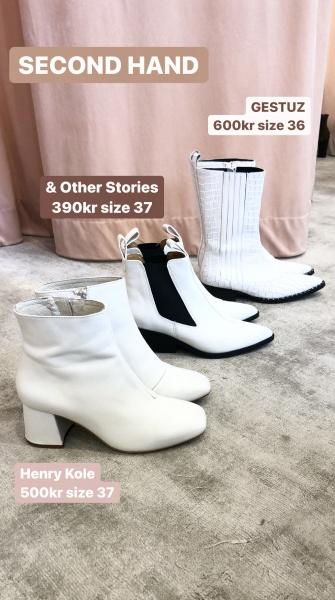 vita skor boots Second Hand