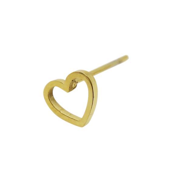 WOS Mini Heart Guld Örhänge